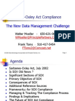 Sarbanes Oxley Compliance Data Mgmt