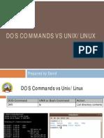Dos vs Linux Commands