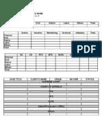 Case List Format