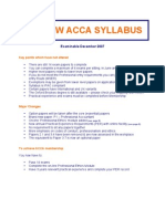 New ACCA Syllabus