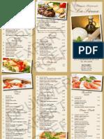 Afhaal menukaart van Pizzeria Ristorante La Sirena