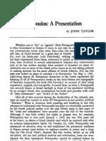 Τaylor-Elias Petropoulos, A Presentation