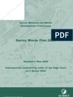 Surrey Waste Plan Adopted May 2008minusEpages