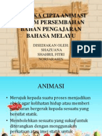 Mereka Cipta Animasi Dalam Persembahan Bahan Pengajaran Bahasa m13