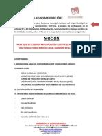 Moción de IU de Férez para la mejora del Consultorio Médico de Férez.APROBADA EN PLENO DE MARZO 2012