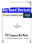 Ramana Keyboard Shortcuts