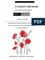 Outline for Boutique Restaurant Concept