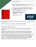 Vol 39 Issue 1 - Hegelian Dialectics - Mckenna