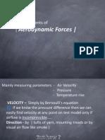 Measurments of Aerodynamics Forces