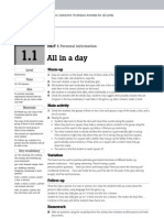 All in a day - vocabulary and grammar game