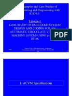 Embedded Sys- Auto Choco Machine