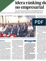 Perú lidera el ránking en optimismo empresarial