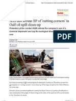 Activists Accuse BP of 'Cutting Corners' in Gulf Oil Spill Clean-up | Environment | Guardian.co.Uk