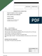 FCE Samplepaper