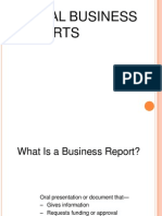 Typicl Business Reports