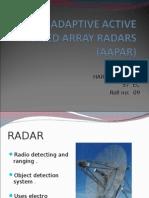 Adaptive Active Phased Array Radar Presentation