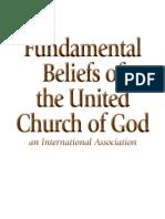 Fundamental Beliefs United Church of God