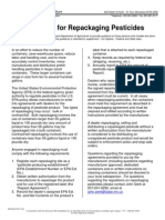 Guidelines for Repackaging Pesticides