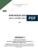 PORTAFOLIO DOCENTE COMPUTACION