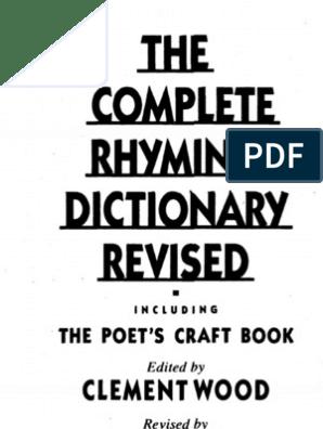 The Complete Rhyming Dictionary | Métrica (Poesía) | Poesía