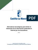 Guia Para Limitacion de Indexacion en Buscadores JCCM 2011-02-09