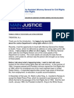 Prepared Remarks by Assistant Attorney General for Civil Rights Thomas Perez on Voter Rights Main Justice