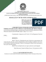 Resolucao 007 Aprova Regulamento Eleicao Conselho Academico