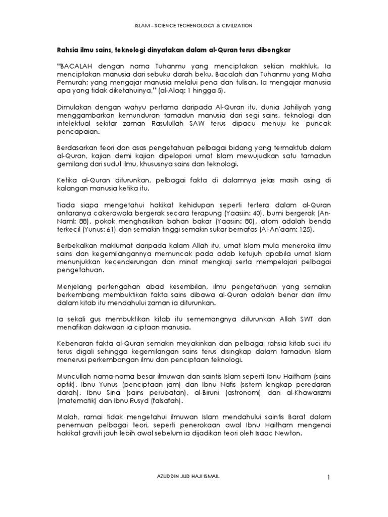 azuddin jud ismail km sejarah sains teknologi islam science