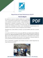 Comunicado do CDS-PP sobre a Consolidação das arribas da Praia do Magoito