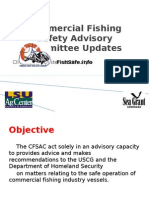 Commercial Fishing Safety Advisory Committee Updates