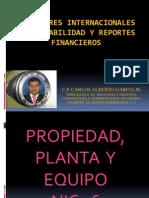 NIC 16 PROP. PLANTA Y EQUIPO CARLOS GARCÍA.