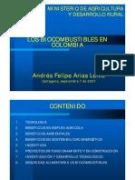 Los Biocombustibles en Colombia - Septiembre 2007