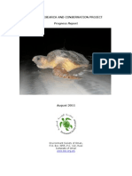 Turtle Conservation Progress Report August 2011