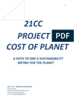 Cost of Planet Creating One Sustainability Metric