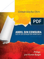 """Abril sin censura"", de Germán Sánchez Otero"