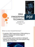 Dna Fingerprinting Technology