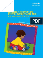 Activitati de Invatare Pentru Copiii Foarte Mici