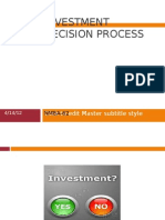 Investment Decision Process..NMBA-62