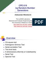 Testing Random Number Generators