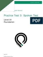 PTEG Spoken PracticeTest3 A1