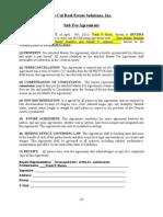 Sub Fee Agreement to PDF