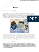 Diagnóstico de Aceites