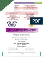 Impact du Marché de la Dette Publique Sur la Politique Monétaire de la BEAC