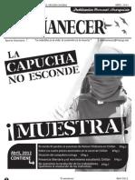 Periodico Anarquista El Amanecer, Abril 2012