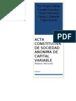 Acta Consitutiva de s.a.