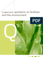 Fertilizers and the Environment