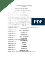 Gospel Course Syllabus