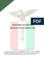 Benito Musolini-Doktrina Fasizma