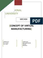 Virtual Manufacturing Termpaper