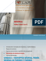 Estatica Clase 04 Uap - SISTEMAS DE FUERZAS EQUIVALENTES
